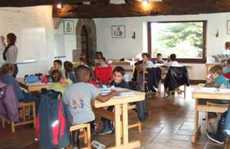 Domaine de Bilhervé - La salle de classe