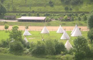 Vue du centre de vacances Indian's Vallée