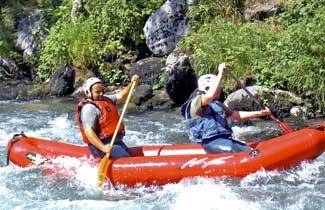 Raft dans les Pyrénées
