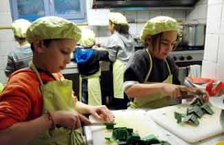 Atelier cuisine - Classe découverte au Loubatas