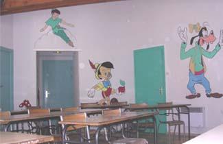 Classe découverte, salle de classe