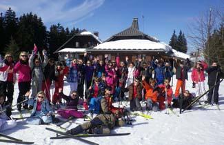 Classe de neige, ski de fond