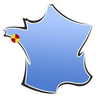 Situation de la Maison des Salines, à la Trinité-sur-Mer (56)