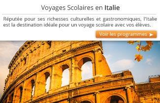 Cahier de Voyages - Séjours scolaires en Italie