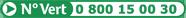 N° Vert 0 800 15 00 30